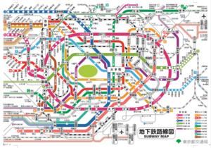 首都圏地下鉄路線図