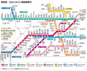 東急東横線 路線図