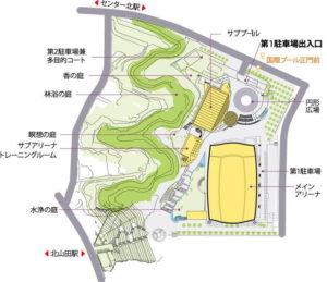 横浜国際プール全体図