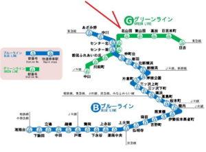 横浜市営地下鉄 路線図