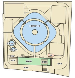 横浜プールセンター施設全体図