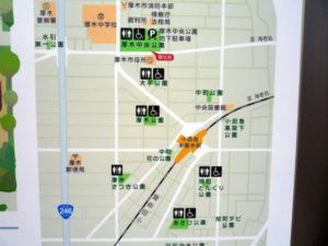 本厚木駅周辺 障害者用(多目的)トイレ