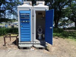 相模川 厚木 あゆみ橋周辺 仮設トイレ