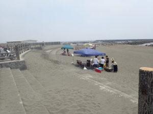 茅ヶ崎漁港海岸公園 BBQポイント