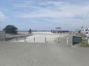 茅ヶ崎漁港海岸公園入口