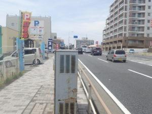 茅ヶ崎サザンビーチ駐車場入口