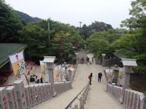 大山阿夫利神社下社 階段