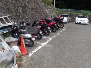 大山第2駐車場 バイク駐輪場