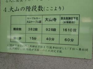 丹沢 大山観光案内所からの階段数