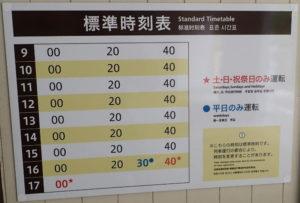 大山ケーブルカー時刻表