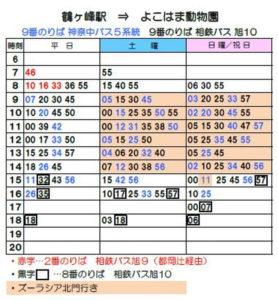 鶴ヶ峰駅 バス時刻表