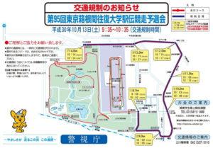 第95回東京箱根間往復大学駅伝競争予選会 平成30年10月13日開催