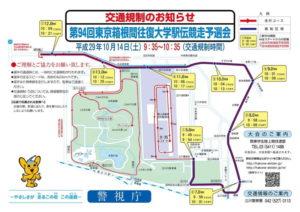第94回東京箱根間往復大学駅伝競走予選会 平成29年10月14日開催