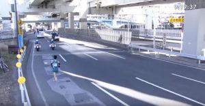 箱根駅伝9区 横浜駅前 固定カメラ2