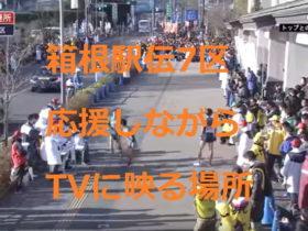 箱根駅伝7区応援しながらテレビに出る映る場所
