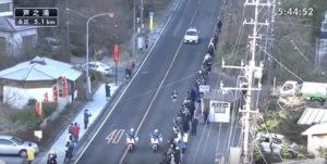 箱根駅伝6区 芦之湯固定カメラ