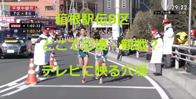 箱根駅伝8区 どこで応援・観戦?テレビに映る穴場情報