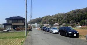 上大島キャンプ場 路上駐車