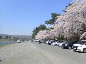 上大島キャンプ場 第1駐車場