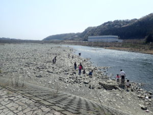 上大島キャンプ場 川遊び