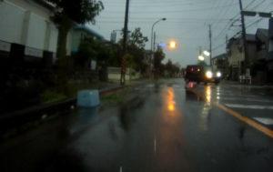 台風散乱物:コンテナBOX