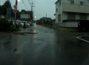 台風散乱物:看板3