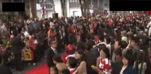府中パレード:日本ラグビー凱旋