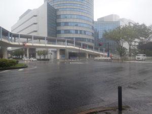 環状2号線と横浜プリンスホテル