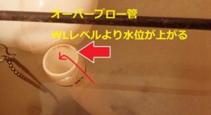 トイレタンク水漏れ:オーバーブロー管