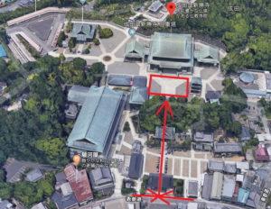 成田山新勝寺:節分会:豆まきの会場
