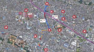 相模原路上強盗事件:横浜線とコンビニ