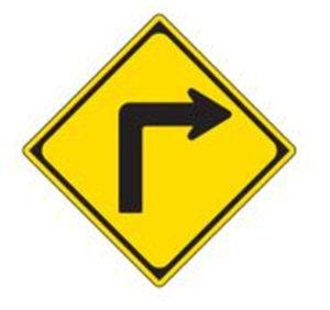 警戒標識:屈折